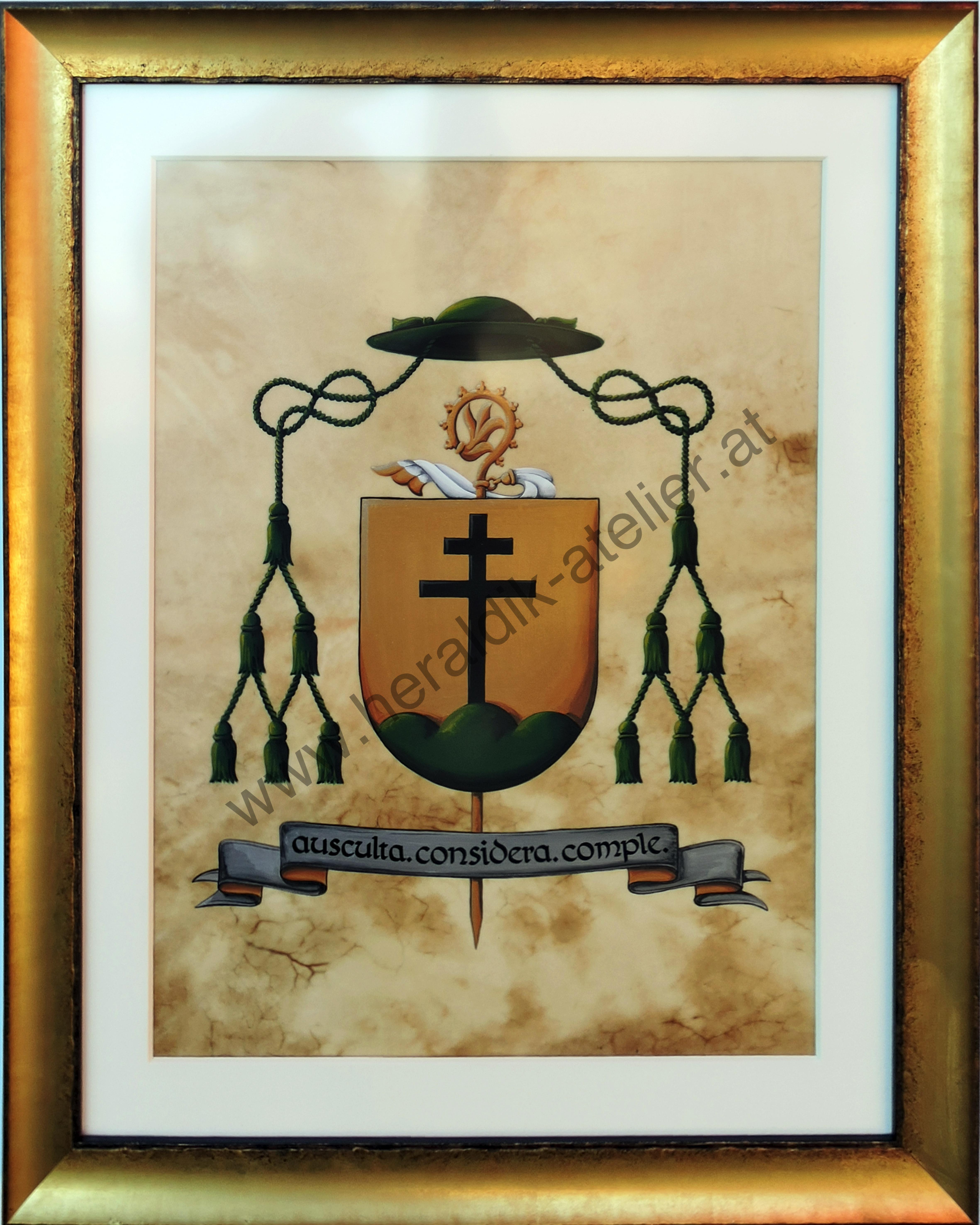 Wappen Abt Vinzenz mit Rahmen
