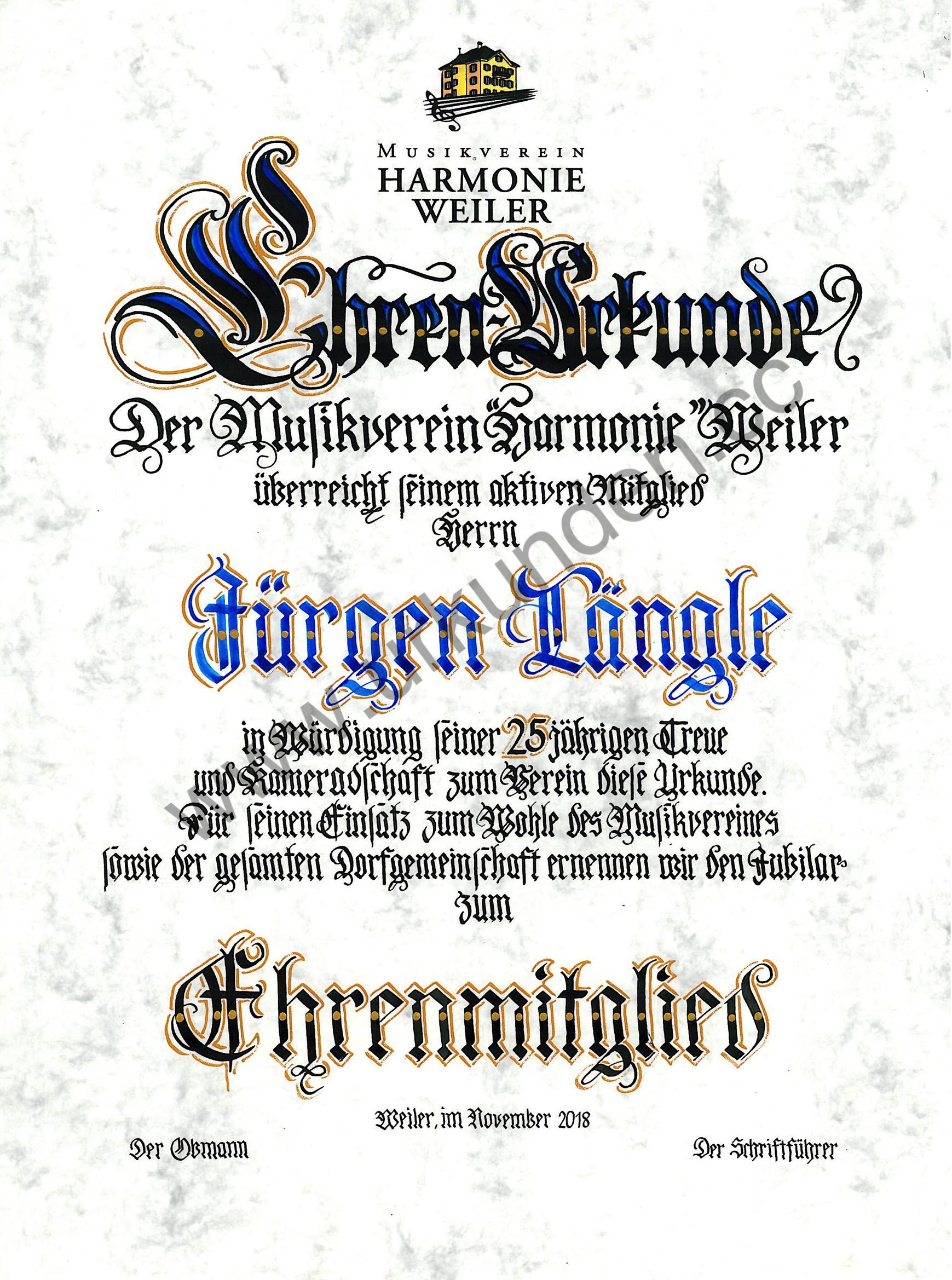 mvweiler_Ehrenmitglied_Längle_Nov_2018